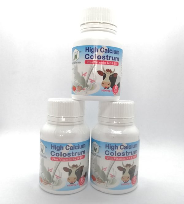 High Calcium Colostrum Plus Vitamin K2 and D3 (3 Months Supply)
