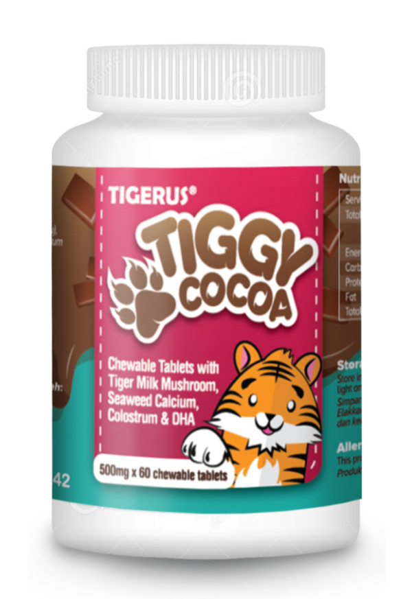 TIGERUS® TIGGY Cocoa Chewable Tablets
